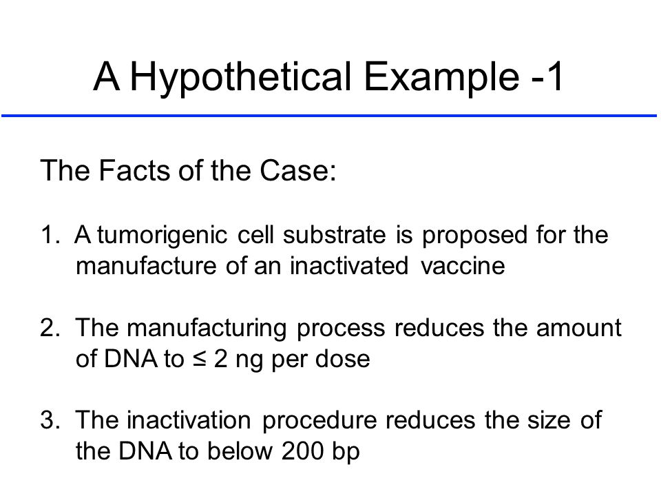 A Hypothetical Example -1