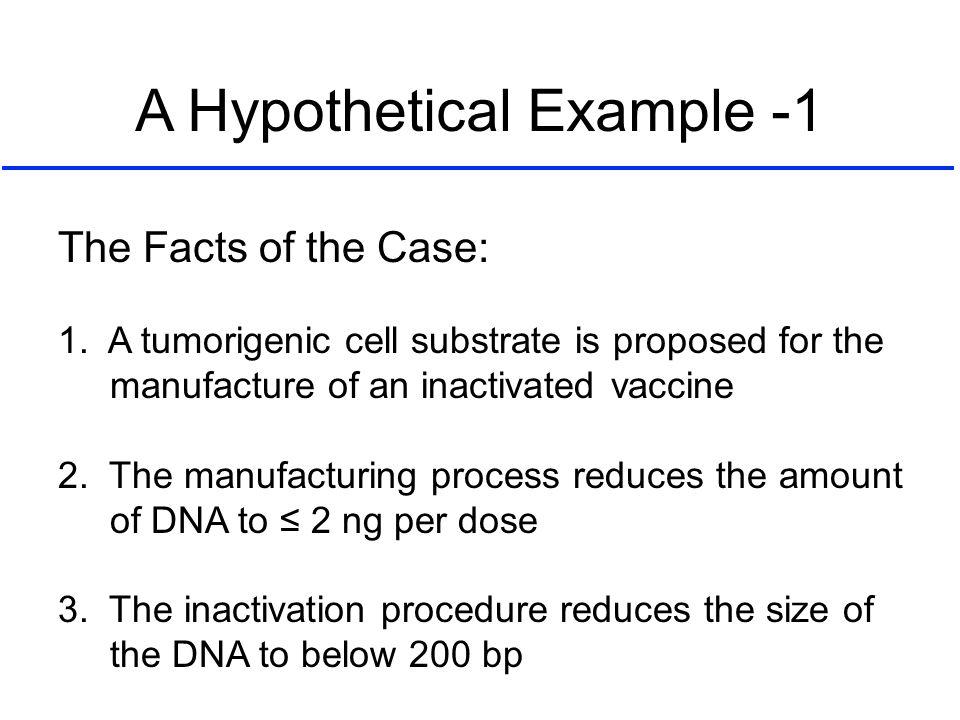 A Hypothetical Example -1