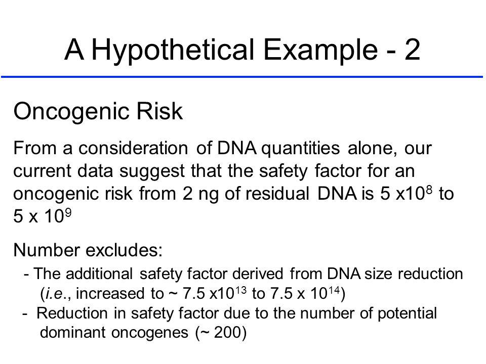 A Hypothetical Example - 2
