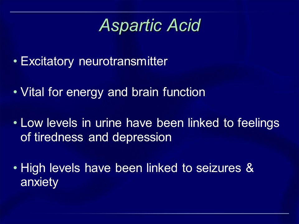 Aspartic Acid Excitatory neurotransmitter