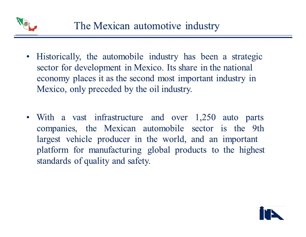 The Mexican automotive industry
