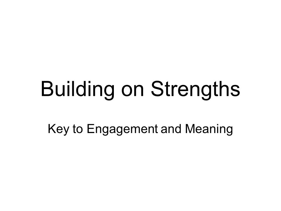 Key to Engagement and Meaning