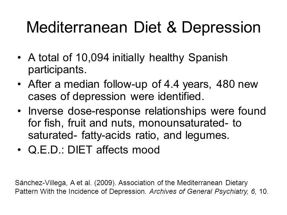 Mediterranean Diet & Depression