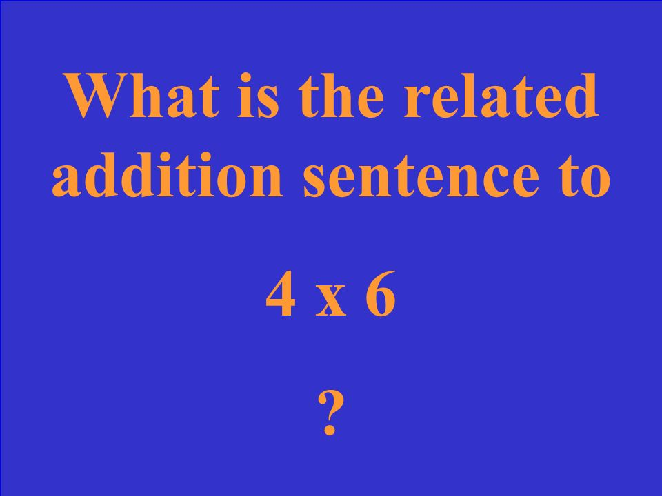 What is the related addition sentence to