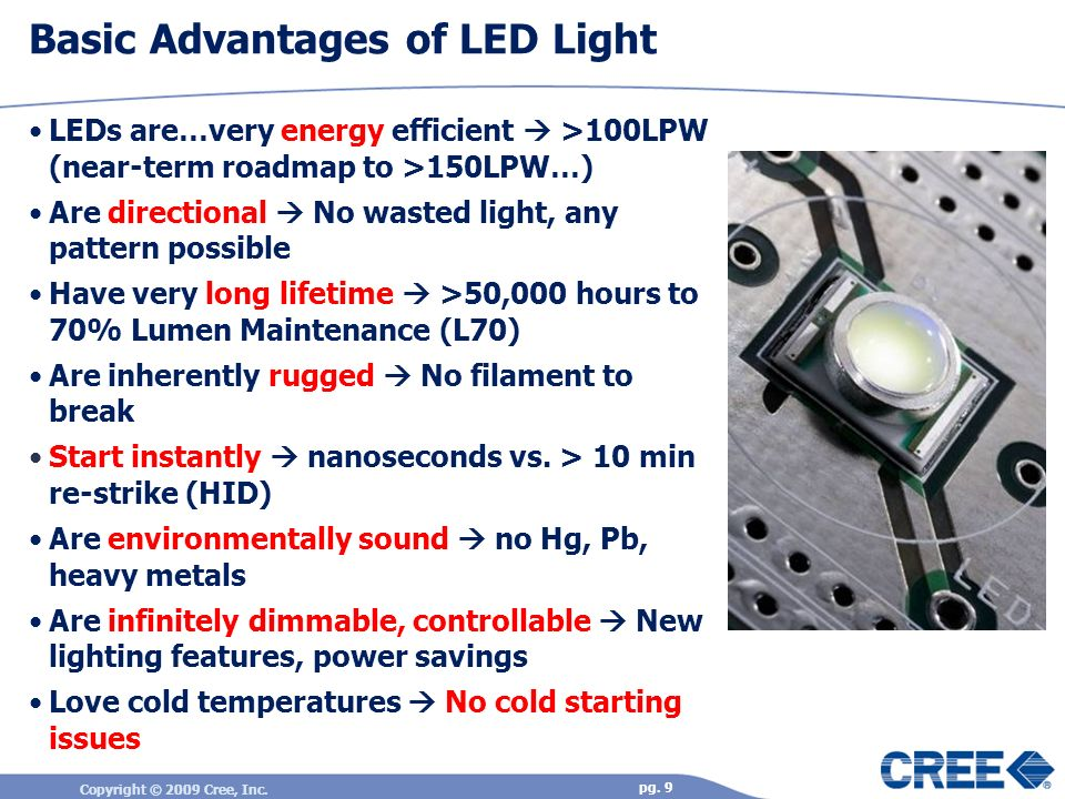 Basic Advantages of LED Light