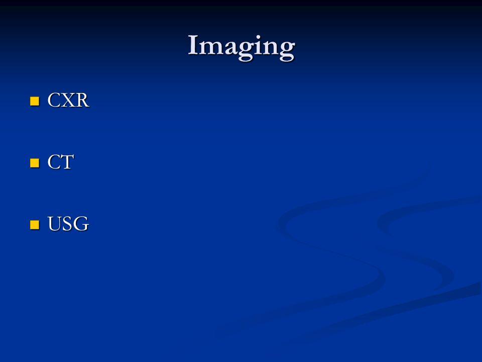 Imaging CXR CT USG