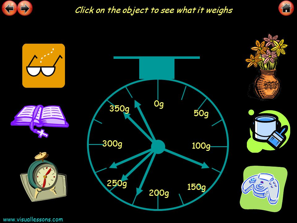 Click on the object to see what it weighs