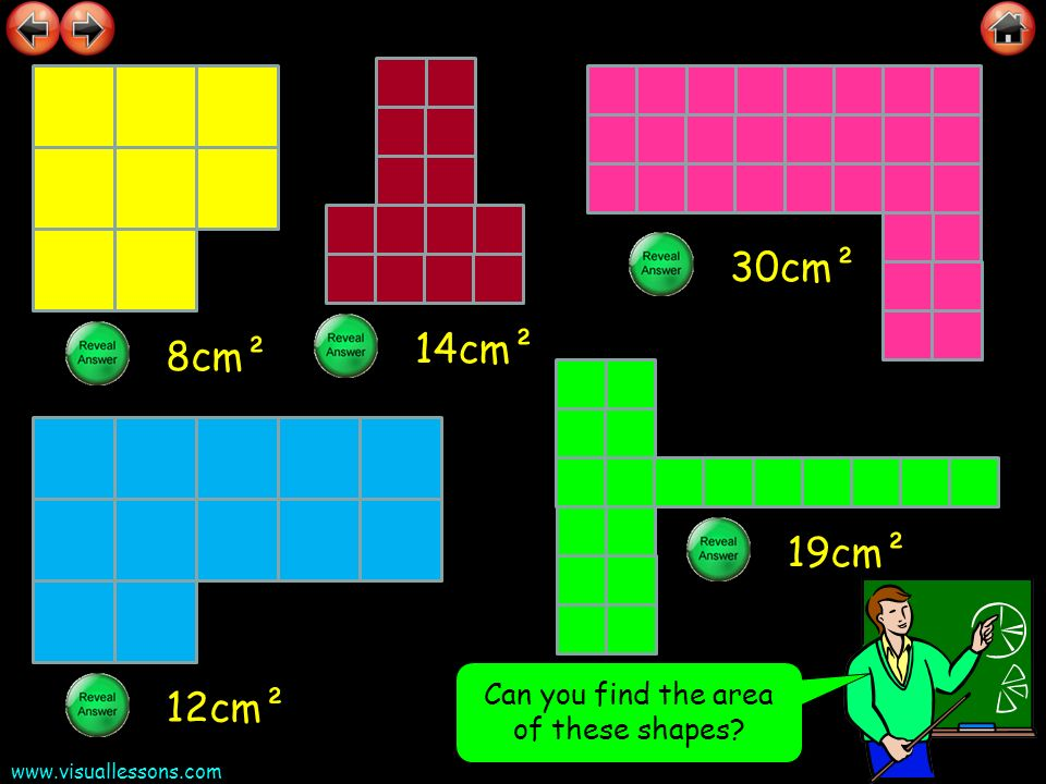 Can you find the area of these shapes