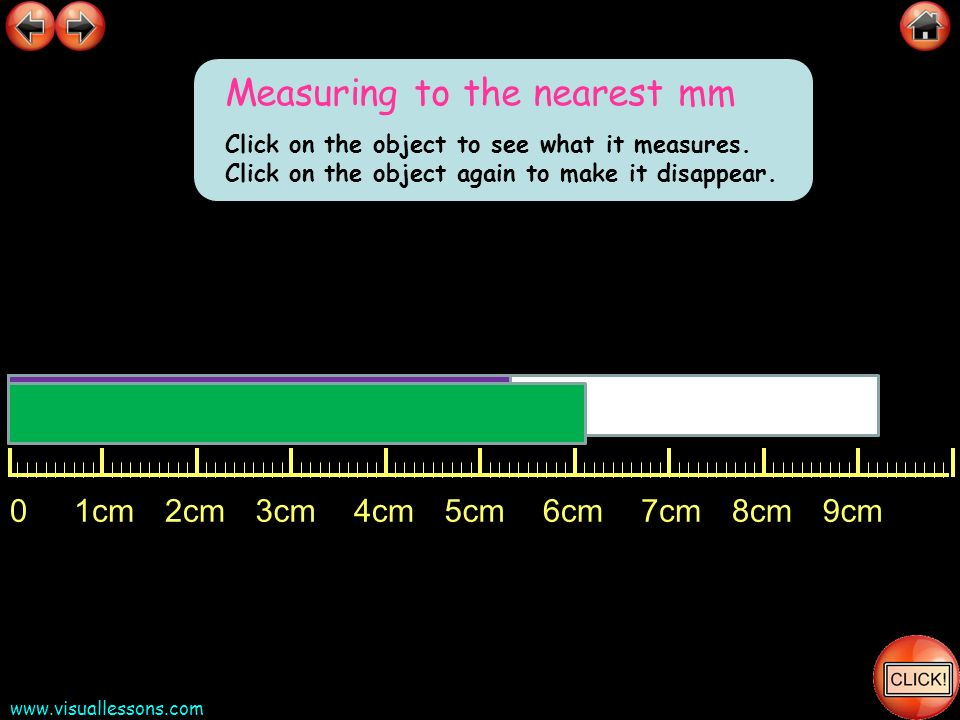 Measuring to the nearest mm