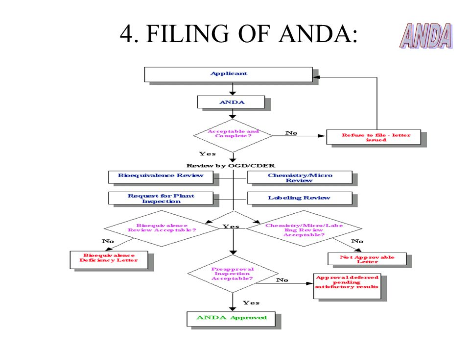 4. FILING OF ANDA: ANDA