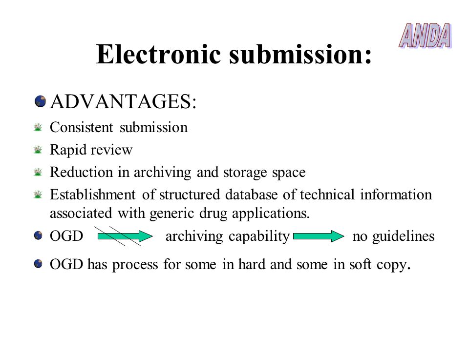 Electronic submission: