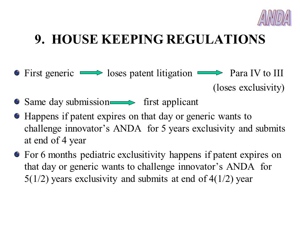 9. HOUSE KEEPING REGULATIONS