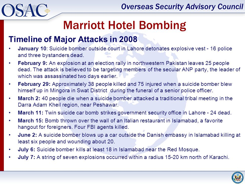Marriott Hotel Bombing