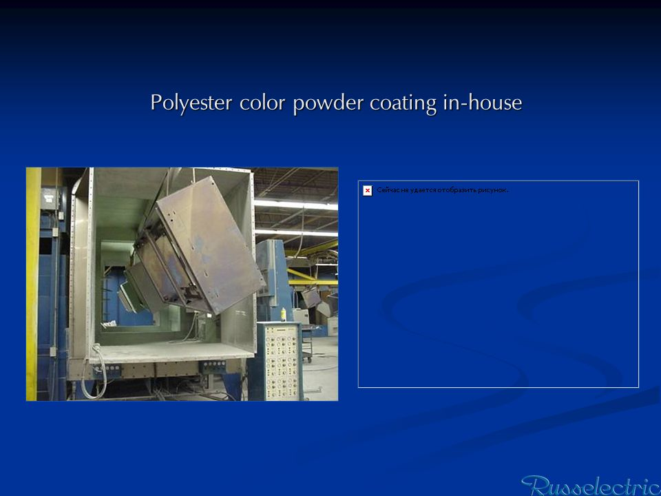 Polyester color powder coating in-house