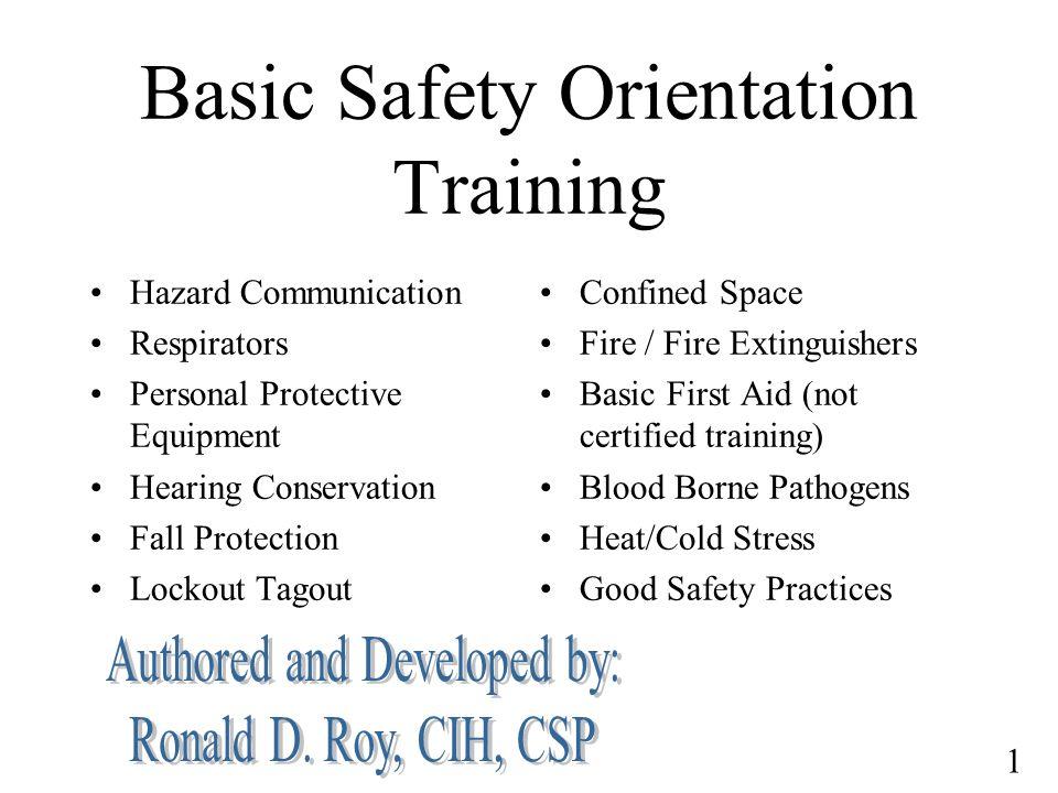 Basic Safety Orientation Training