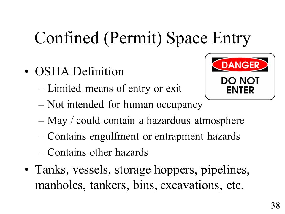 Confined (Permit) Space Entry