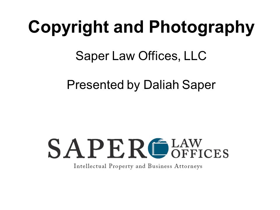 Copyright and Photography