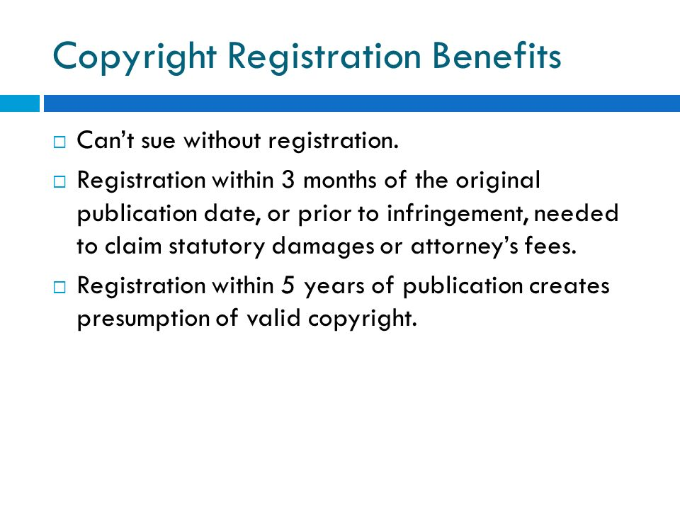 Copyright Registration Benefits