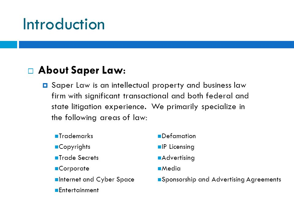 Introduction About Saper Law:
