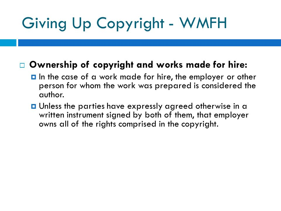 Giving Up Copyright - WMFH