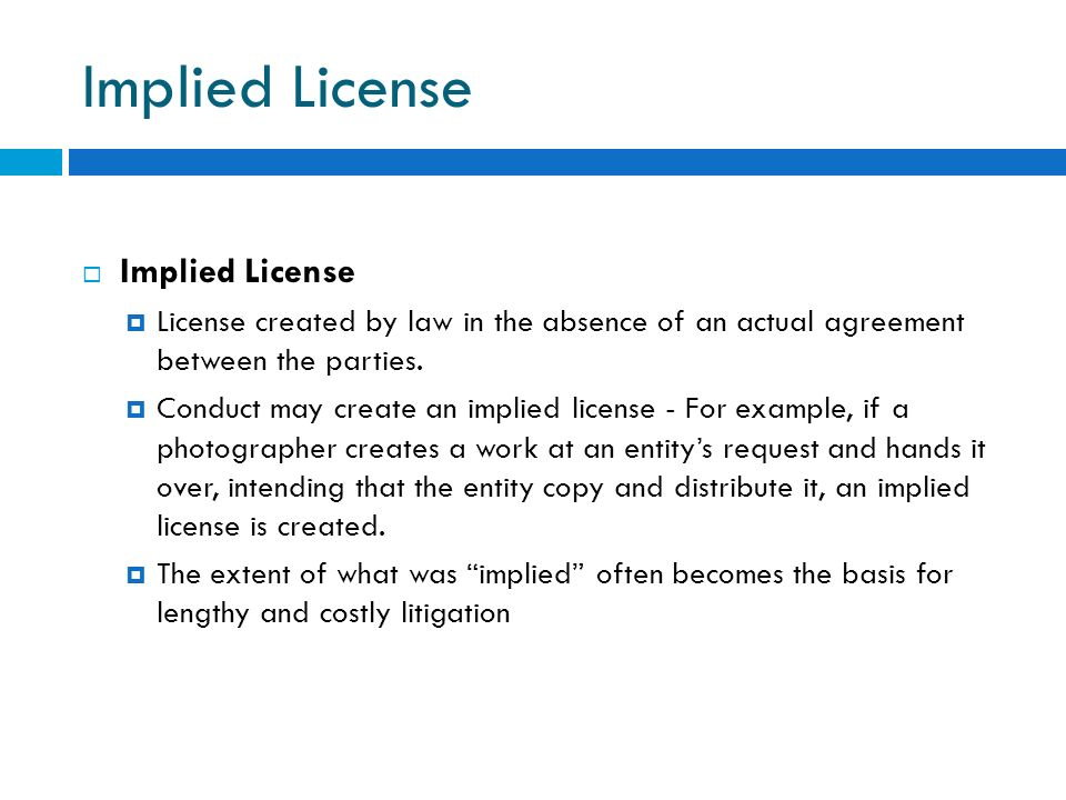 Implied License Implied License