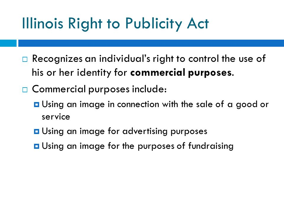 Illinois Right to Publicity Act