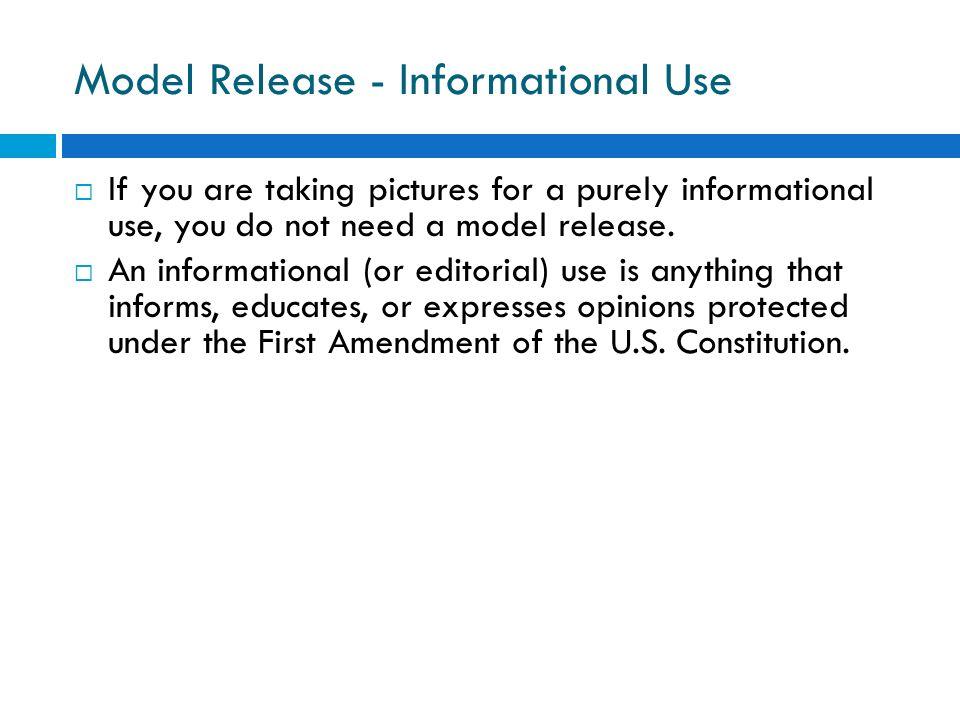 Model Release - Informational Use