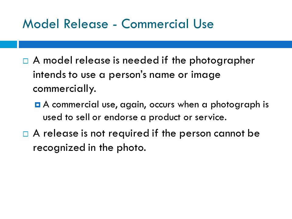 Model Release - Commercial Use