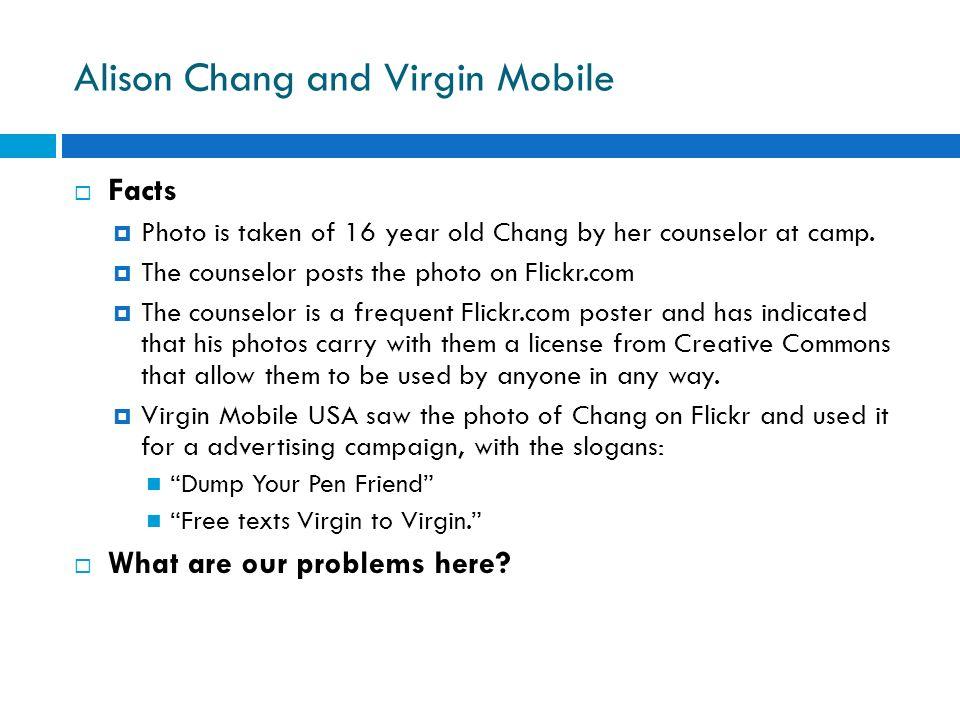 Alison Chang and Virgin Mobile