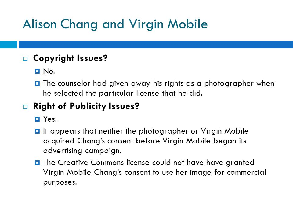Alison Chang and Virgin Mobile