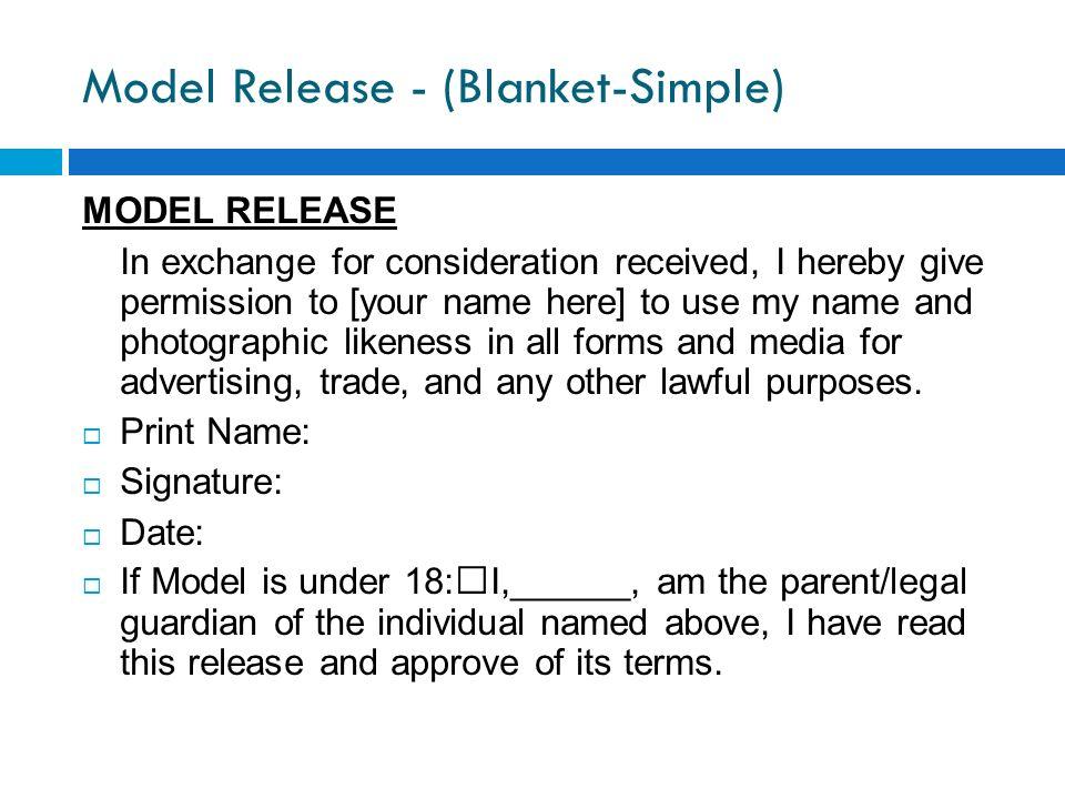 Model Release - (Blanket-Simple)