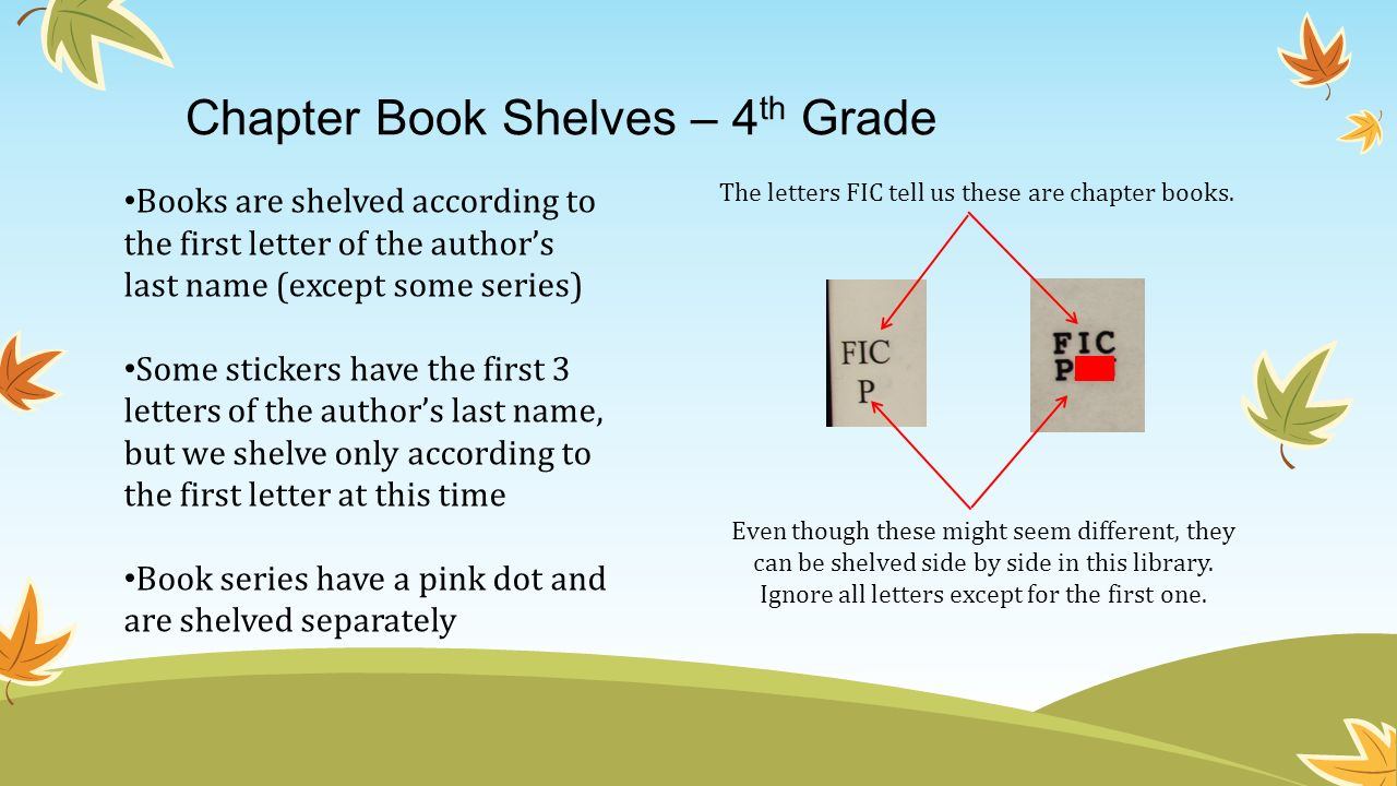 Chapter Book Shelves – 4th Grade