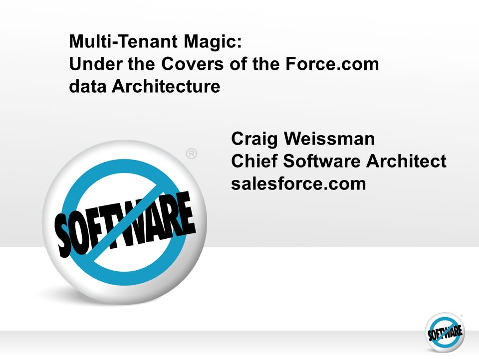 Under the Covers of the Force.com data Architecture
