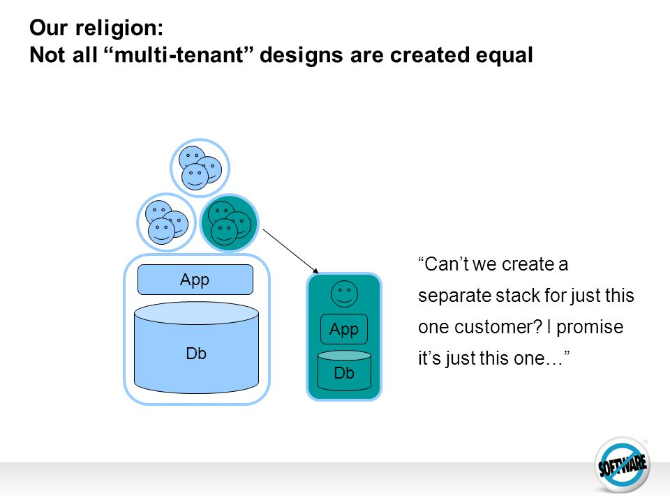 Our religion: Not all multi-tenant designs are created equal