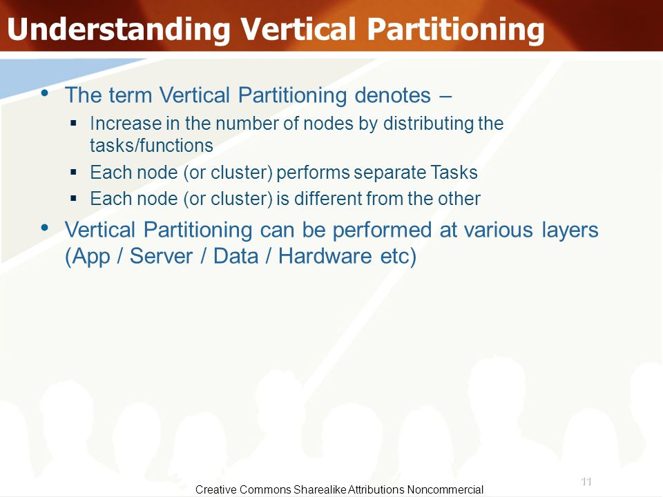 Understanding Vertical Partitioning
