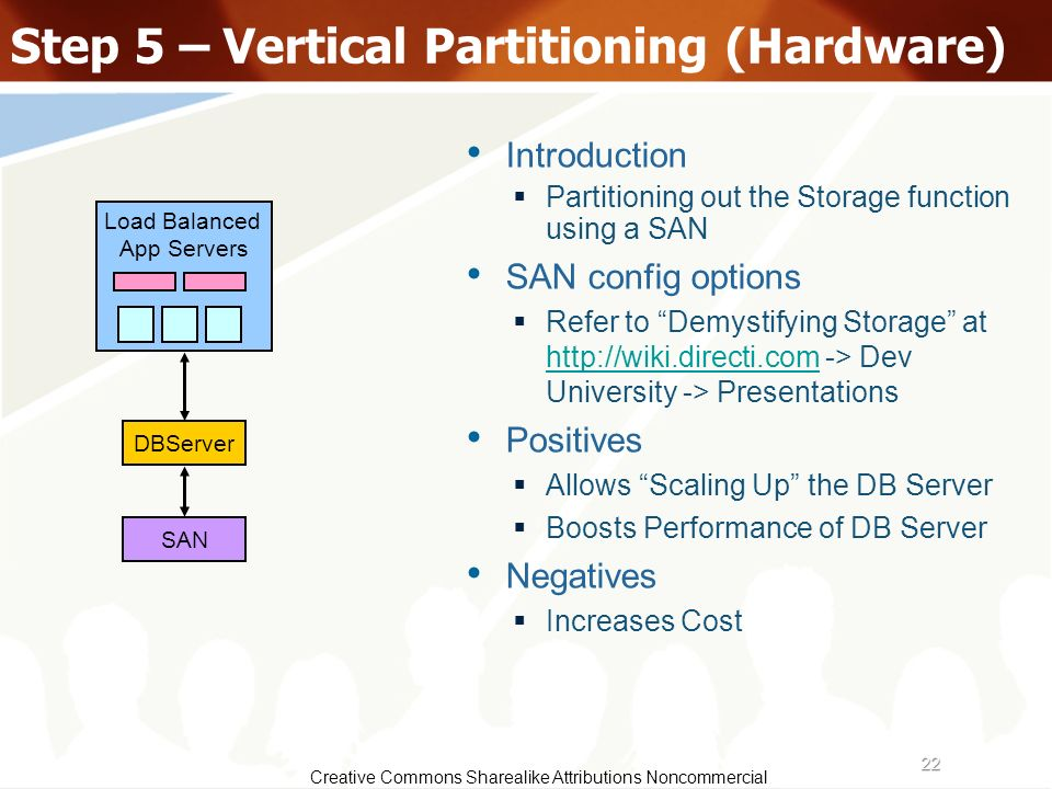 Step 5 – Vertical Partitioning (Hardware)