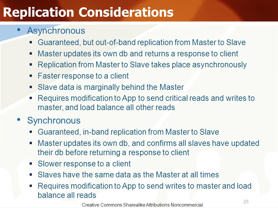 Replication Considerations
