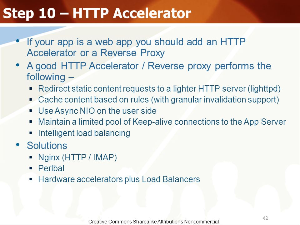 Step 10 – HTTP Accelerator