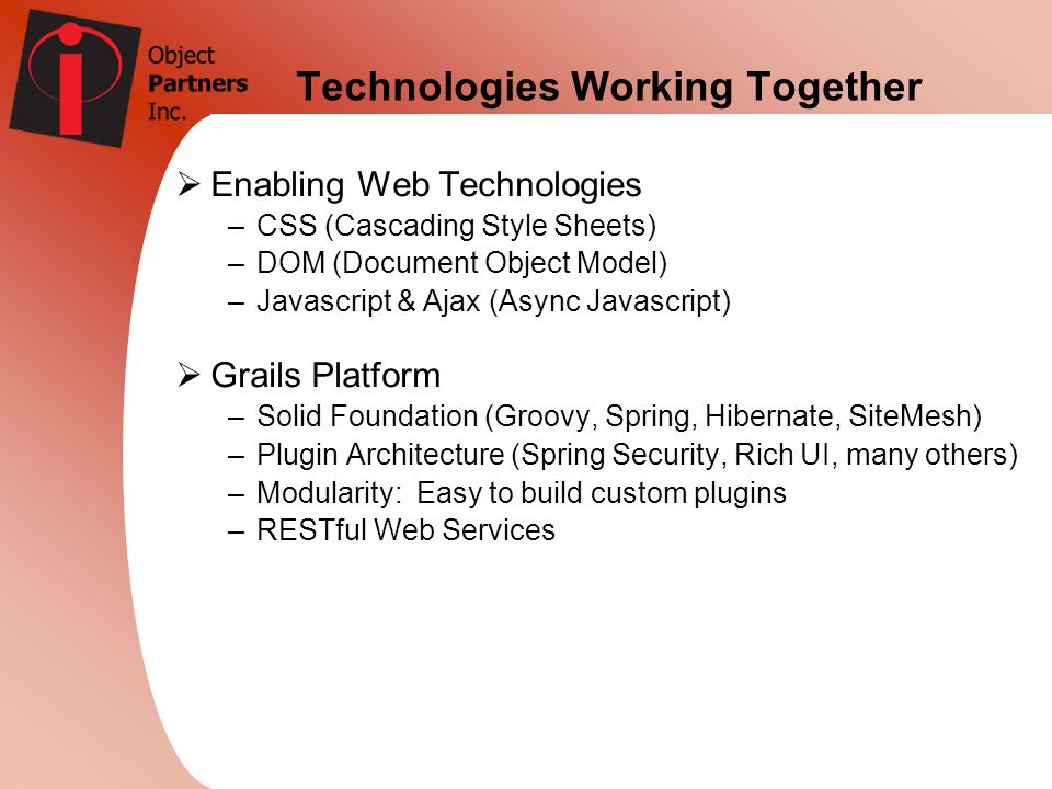 Technologies Working Together