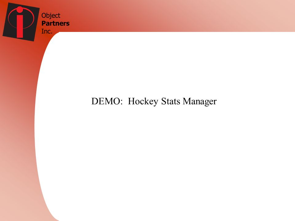 DEMO: Hockey Stats Manager