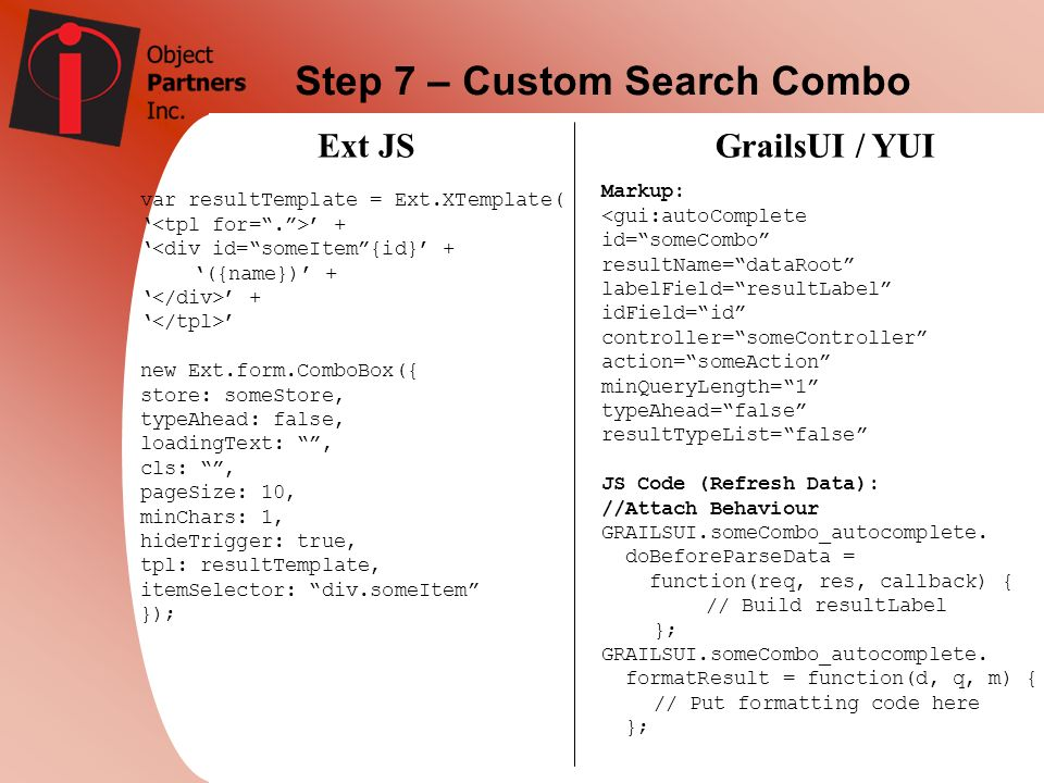 Step 7 – Custom Search Combo