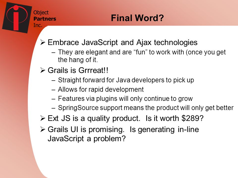 Final Word Embrace JavaScript and Ajax technologies