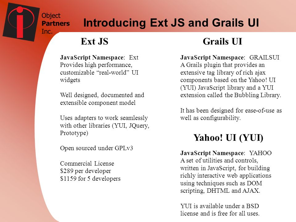 Introducing Ext JS and Grails UI