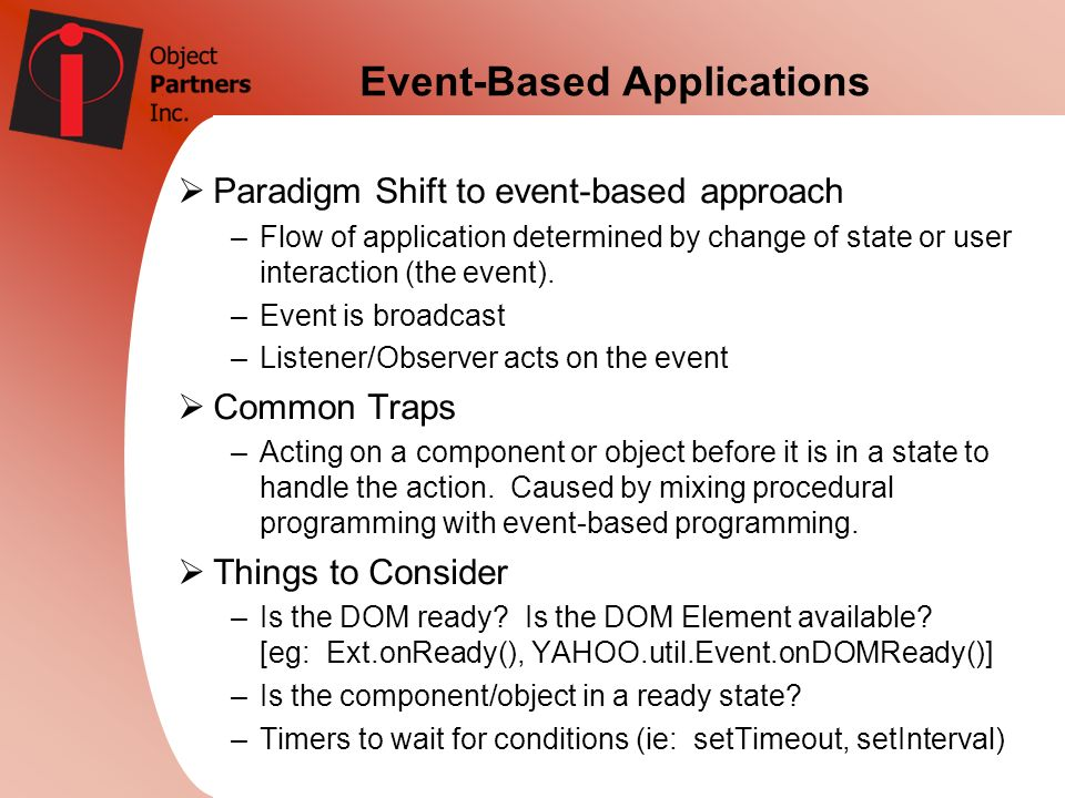 Event-Based Applications