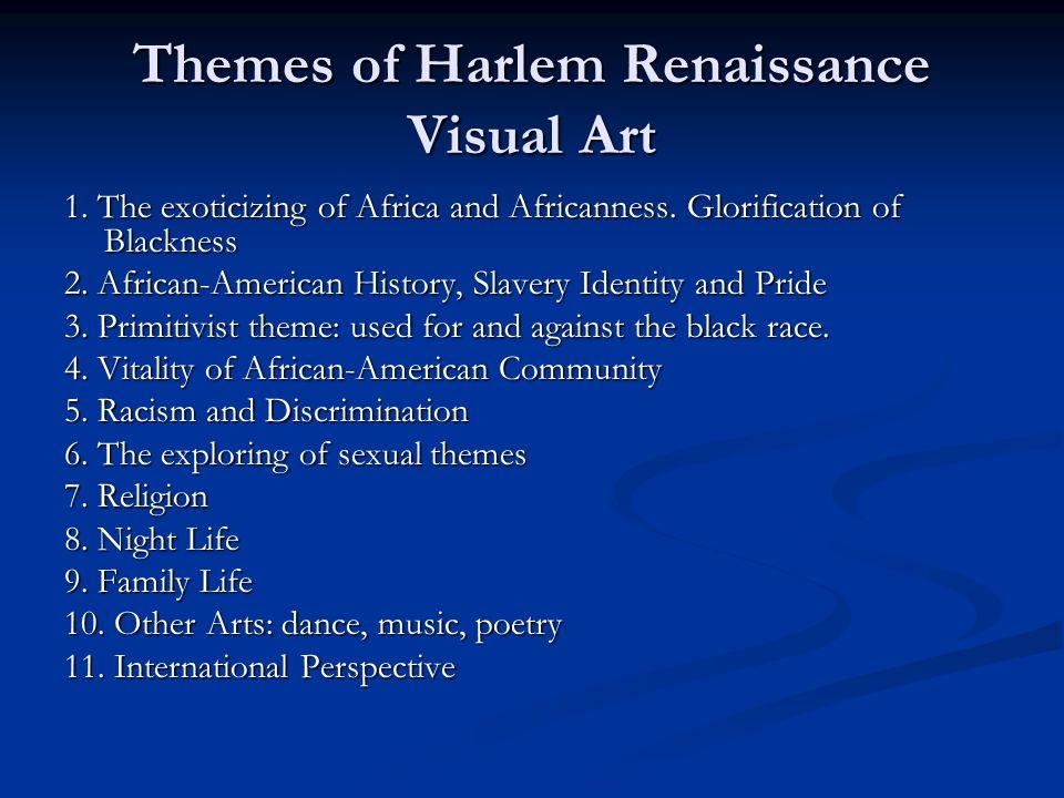 Themes of Harlem Renaissance Visual Art