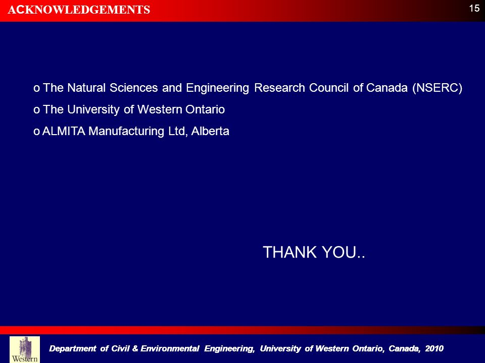 THANK YOU.. ACKNOWLEDGEMENTS
