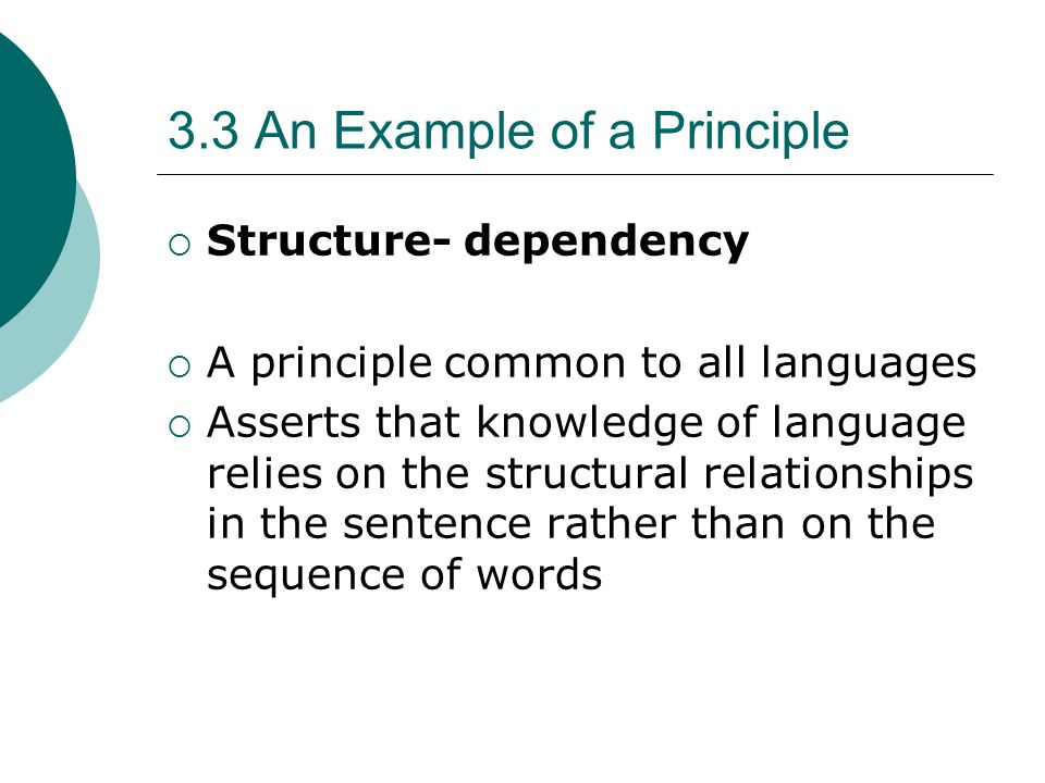 3.3 An Example of a Principle