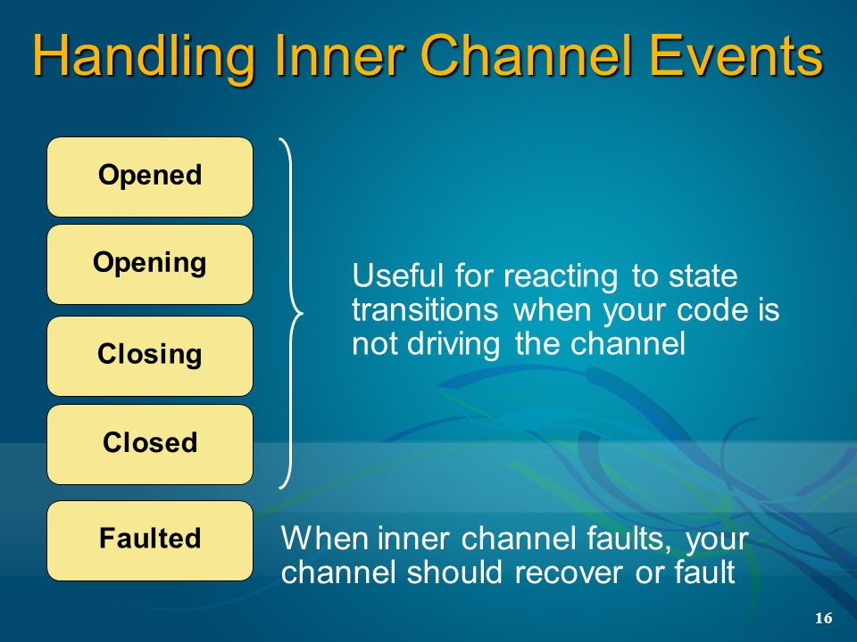 Handling Inner Channel Events