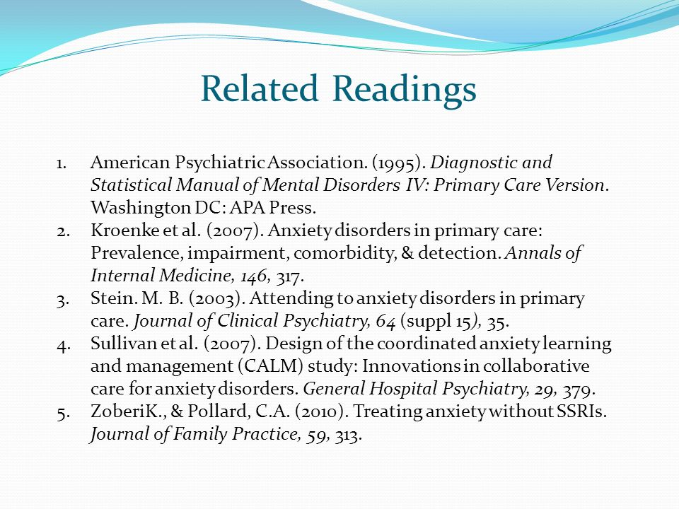 Related Readings