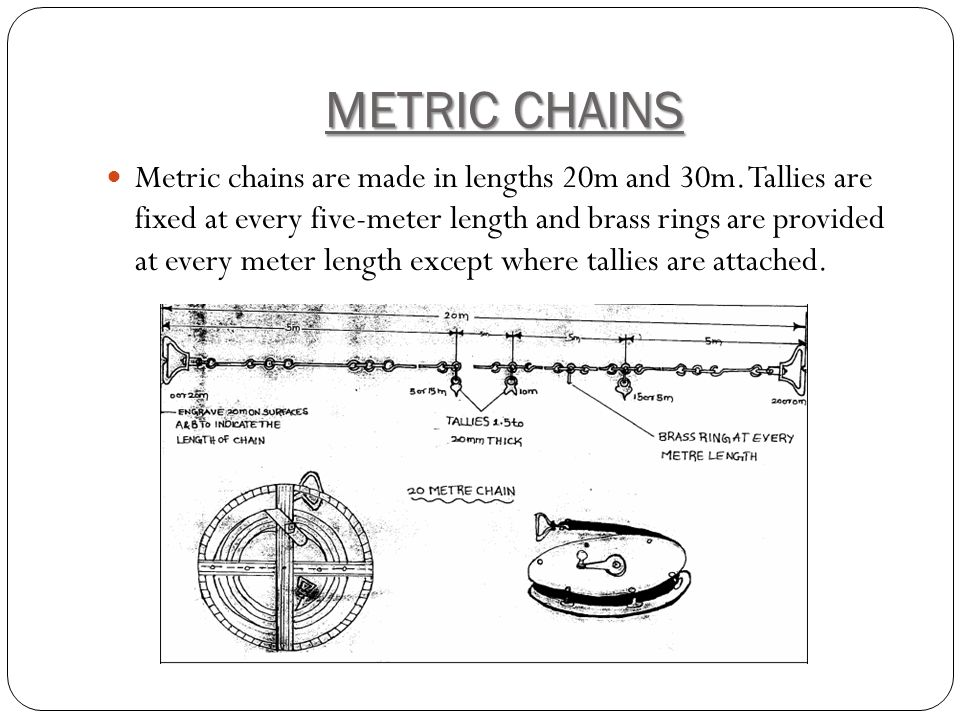 METRIC CHAINS